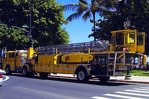 ハワイ(アメリカ)の交通ルール 緊急車両走行時は完全停止