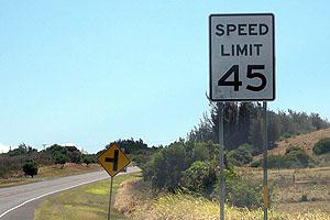 ハワイ(アメリカ)の交通ルール 標識の数字の単位はmile(マイル)