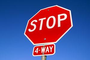 ハワイの道路標識 STOP 4-WAY
